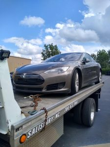 tesla towing